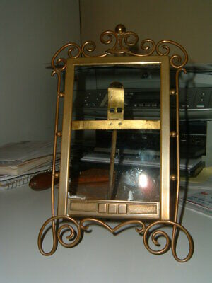Antique English Brass Ring Picture Frame 2