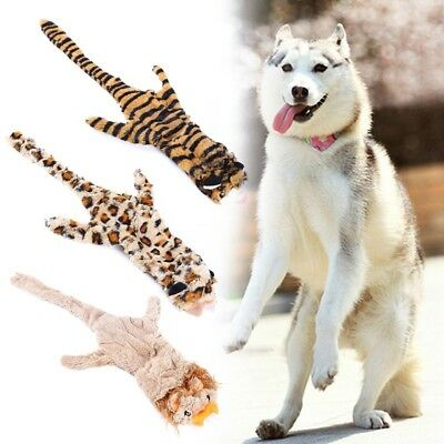 Dog Squeak Toy Lovely Pet Puppy Chew Plush Cartoon Animals Shape Teeth Sound Toy