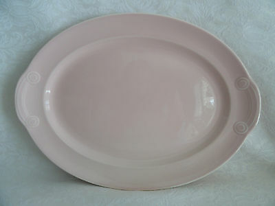 """LuRay TS&T - Large Oval Serving Platter  -   13 1/2""""  X  9 1/2""""  -  Sharon Pink"""