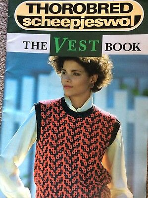 Vintage Thorobred Knitting Pattern Book The Vest Book - Family Patterns