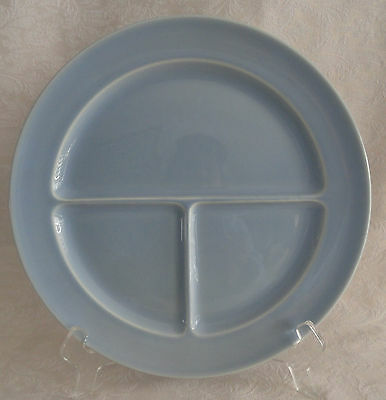 """LuRay TS&T - Compartment Divided Grill Plate 10"""" - Windsor Blue PERFECT"""