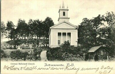 EARLY 1900'S. GERMAN REFORMED CHURCH. JEFFERSONVILLE, NY POSTCARD s6
