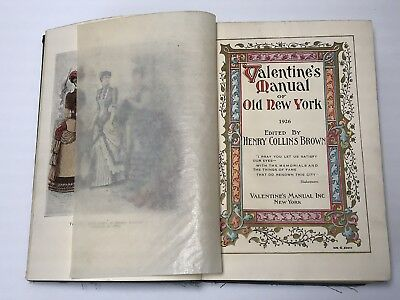 Rare Valentine's Manual of Old New York City 1926 Beautiful Illustrations Book