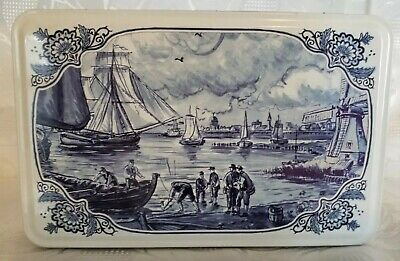 Collectable Old Style Nautical Theme Cookie Tin - Holland