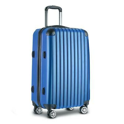 Wanderlite 28inch Lightweight Hard Suit Case Luggage Blue