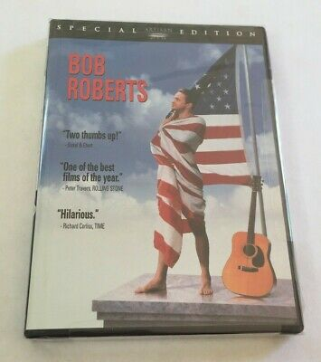 NEW AND SEALED Bob Roberts (DVD, 2002, Special Edition Sensormatic Security Tag)