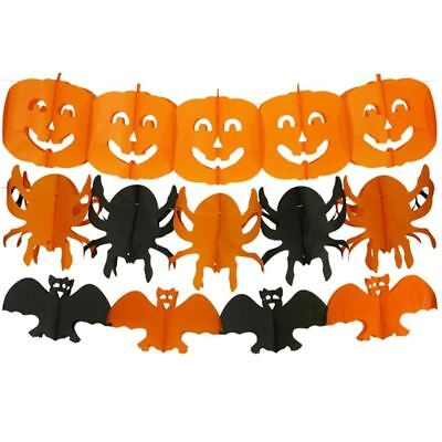 Halloween Papier Wandbehang Schnur Girlande Party Requisit Dekoration Kürbis