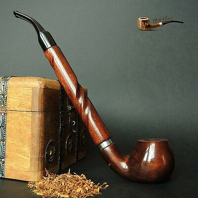 "LARGE WOODEN TOBACCO SMOKING PIPE CHURCHWARDEN no 65 LONG 11"" Brown PEAR"