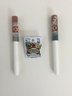Vtg Super Bowl XXX 30 NFL Football Pin & Pen Steelers Cowboys Arizona Sun Devil