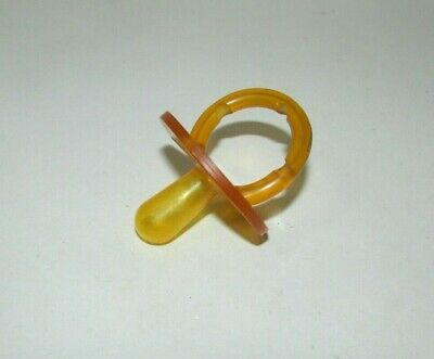 Vintage baby pacifier yellow brown amber vinyl used