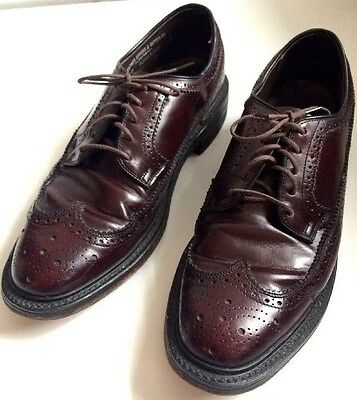 8f8b93ed2590 Vintage MANSFIELD DIPLOMATS Leather Wingtip Formal Oxford Mens Shoes 9 D B  USA
