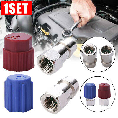 2Pcs R12 to R134A Air Condition A/C Filling Valve Fitting Port Adapter Retrofit