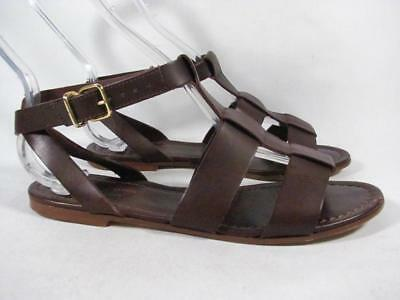 f71d866b9784 J Crew Olympia Gladiator Sandal Women size 6 Brown Leather