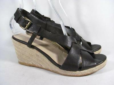0e0ae05d35a LANDS END NEW in Box Espadrille Wedges-Black or Silver Beech-You ...