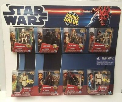 Star Wars Movie Heroes Bonus Value 8 Figure Pack A4110
