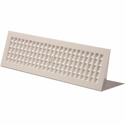4 Baseboard Decor Grates White Plastic Heat Air Vents Registers 18 or 15 inch