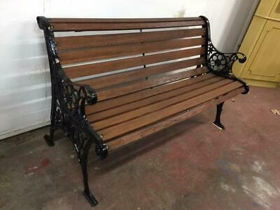 F14002 Outdoor Cast Iron Timber Garden Park Bench Seat