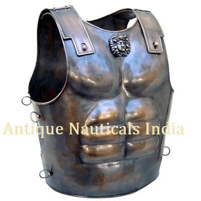 Antique Medieval Spartan Armor Greek Breastplate - One Size - Bronze Armour