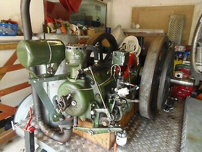Ruston and Hornsby 1ZHR stationary engine and trailer