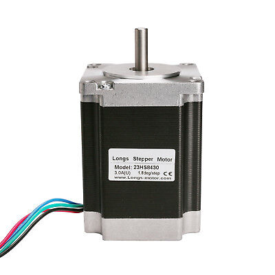 1PC Nema 23 stepper motor 78mm 270oz.in, 4leads 3A 23HS8430 LONGS
