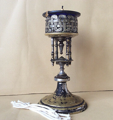 Аntique Norblin Warsaw silverplate sanctuary lamp candlestick hallmarked. 1870s