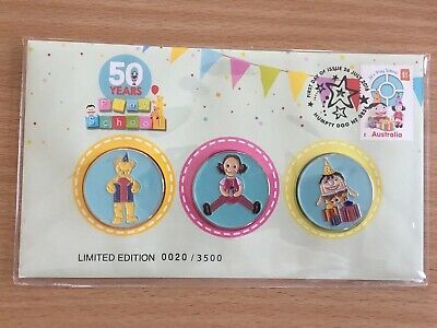 2016 50 Years Of Play School 3 Medallion Set Pnc Low Number 20
