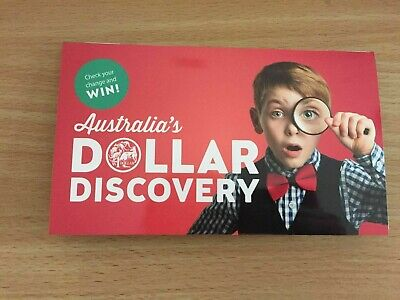 2019 Australia's Dollar Discovery $1 Coin Collector Red Folder With Magnifier