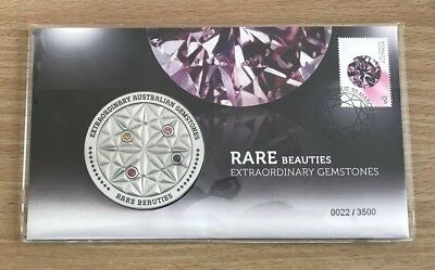 Australia 2017 Medallion Rare Beauties Extraordinary Gemstones PNC LOW NUMBER 22