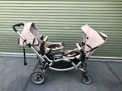 Incredible German ABC Design Zoom double pram, super flexible, with accessories
