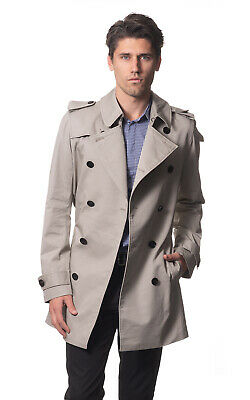 AUSTRALIA DESIGNER Classic Men's Cotton Trench Coat - Italian Fabric