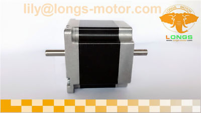 1PC Nema23HS6620B stepper motor dual shaft 128oz.in=0.9NM 6Leads 2A LONGS MOTOR