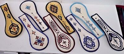 Hand Painted Ceramic Multi Colour Spoon Rest * Rustic Safi Pottery