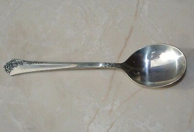 """HEIRLOOM STERLING SILVER *Damask Rose* SOUP/Cream SPOON Oneida 6 1/2"""" Round Bowl"""