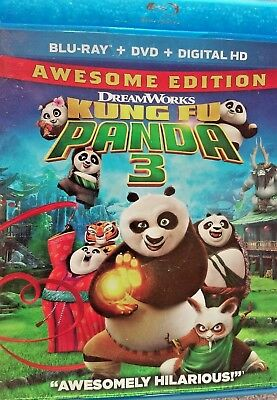 Kung Fu Panda 3 Blu-ray Region A 2016, ( DVD & Digital Download Not Included)