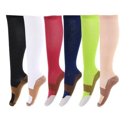 b7ab2d415f Miracle Copper Infused Anti-Fatigue Compression Knee-High Socks Men Women  Gift