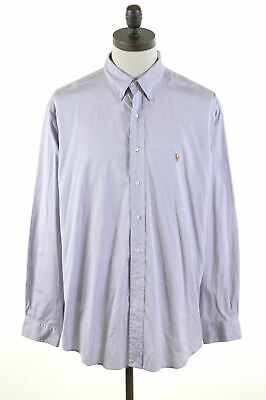 OXFORD RALPH LAUREN Mens BLUE  Shirt Size LARGE  16-32  Loose Fit Yarmouth