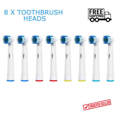 8 x Electric Tooth brush Heads Replacement for Braun Oral B Vitality Precision