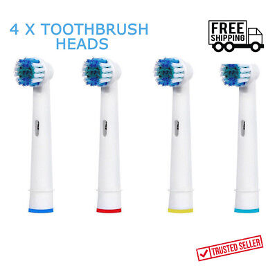 NEW 4 x Braun Oral B Vitality Precision Electric Replacement Tooth brush Heads