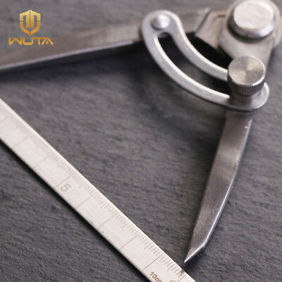 WUTA 4 inch  Stainless Steel Adjustable Creaser leathers Wing Divider DIY Tool