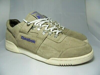 a4f431baf24 REEBOK CLASSIC WORKOUT PLUS Men s Grey Suede Trainers UK 10 EU 44.5