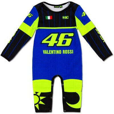 Official Valentino Rossi Leather Replica VR46 Baby Overall Suit -36340