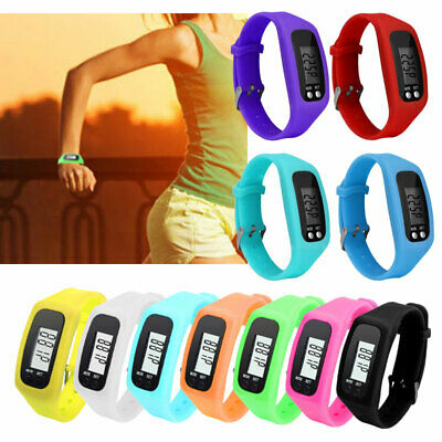 Lcd Pedometer Wrist Watch Bracelet Sport Calorie Step Running Counter Fitness