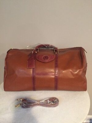 Andantini Brown Leather Duffel Weekender Bag