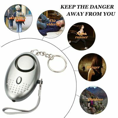 Police Approved Keyring Attack Safety Security Alarm Personal Panic Silver 140db