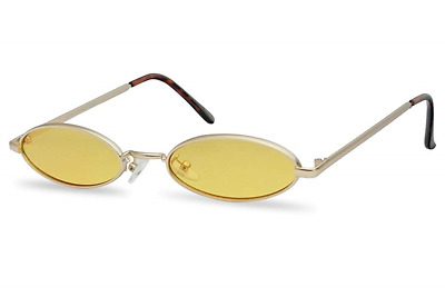 1918738a536c1 Ultra Small Oval Vintage Sun Glasses Slim Retro Steampunk Slender Candy  Color