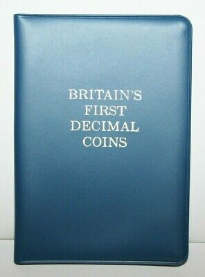 1968-71 Great Britain's First Decimal 5 Coins Half 1 2 5 10 New Pence in Folder