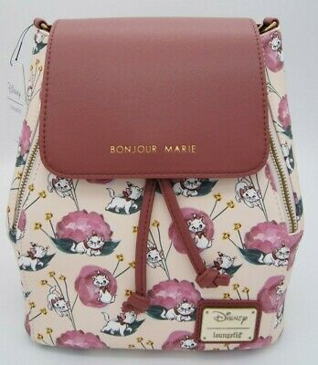 4b5cbb3328d Loungefly Disney The Aristocats Bonjour Marie Floral Convertible Mini  Backpack