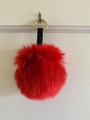 Next Faux Fur Pom Pom Keyring. Ball, Soft Fluffy Charm Dangle