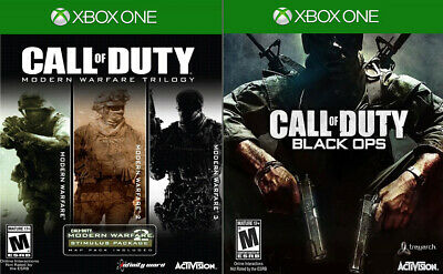 4 GAMES: Modern Warfare 1, 2 & 3 + Black Ops - Call of Duty CoD - Xbox One XB1