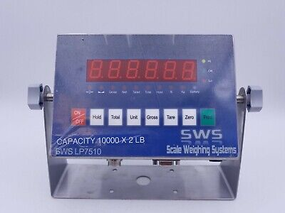 Scale Weighing Systems SWS LP7510 LED Indicator Digital Reader Lbs Kgs RS232C